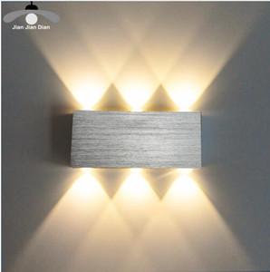Led Duvar Lambası Modern Aplik Merdiven Işık Fikstür Oturma Odası Yatak Odası Yatak Başucu İç Aydınlatma Ev Koridor Loft Gümüş