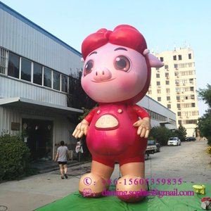 Aufblasbares rotes Schweinmaskottchen von customzied aufblasbares GGbond-Schwein-Tierluftblasen für die Werbung
