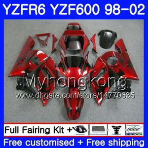 Cuerpo para YAMAHA Llamas negras YZF600 YZF R6 1998 1999 2000 2001 2002 230HM.28 YZF-R6 98 YZF 600 YZF-R600 YZFR6 98 99 00 01 01 Carenados