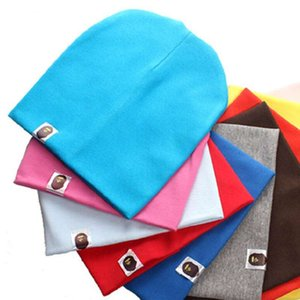 Men and women children's knit hat baby solid color pullover hat child cotton cap baby cap
