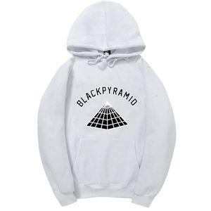 Nuovi Hip Hop piramide nero con cappuccio uomini e donne Felpe Skateboard Street Style Cotton Tuta con cappuccio