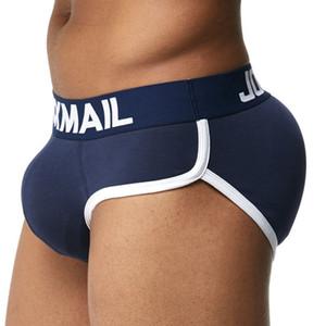 Nueva ropa interior para hombre de JOCKMAIL Algodón Sexy Bulge Almohadilla del pene gay Frente + Atrás Nalgas mágicas Doble extraíble Push Up Copa