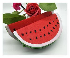 2018 Slow Rising Squishies Fruit Toys Soft Watermelon Squishy Stress Ansiedad Reductor Creative Squeeze PU juguetes para aliviar el estrés
