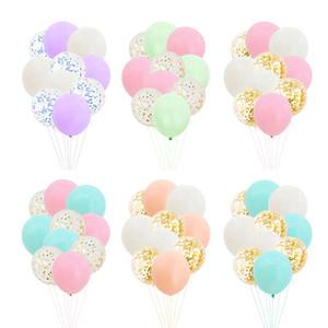 Artículos de decoración de la habitación de la boda del día de los niños decoración de la fiesta de cumpleaños papel macarons engrosada conjunto de globos