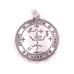 Erzengel MICHAEL Talisman Amulett Engel in Silber oder Gold Ton Bronze Sigil von Michael Angelic Anhänger