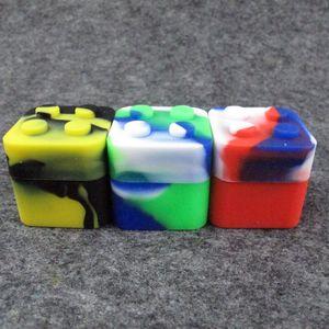 Slick stack a forma di 11ML di silicone alimentare per alimenti in silicone quadrato contenitore di cera siliconica dab di stoccaggio per concentrati di cera DHL Free