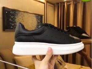 2019 Moda Günlük Ayakkabılar Kadınlar Erkek Günlük Yaşam Kaykay Ayakkabı Moda Platformu Yürüyüş Eğitmenler Hepsi Siyah Deri