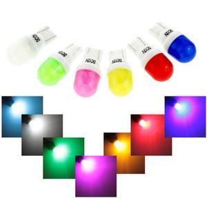 100x T10 Seramik LED Kabarcıklar beyaz buz mavisi, yeşil, pembe, yeşil, sarı renkli 12V Araba Kapı Yan Numarası Lamba Ampul