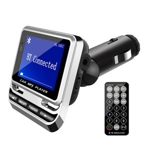 -Bluetooth Car Kit MP3 Player Handsfree Wireless FM Transmitter Radio Adapter USB Charger LCD Remote Control With Retail Box (Retail)