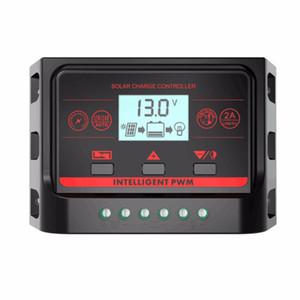 PWM 12V 24V 10A 20A 30A الخلفية وحدة تحكم للطاقة الشمسية مع USB 5V ضوء والموقت تحكم LCD لوحة للطاقة الشمسية شحن البطارية منظم CE