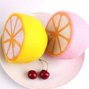 Лимонная мягкая игрушка Jumbo Slow Rising pink yellow Kawaii Squishy Squeeze Toy новинка предметы декомпрессионная игрушка 50 шт. 2 цвета 11*9.6 см T1I398