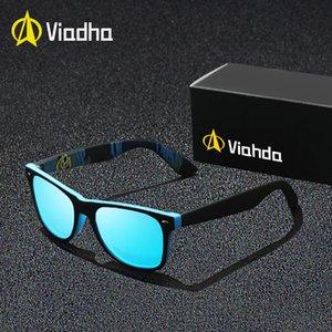 VIAHDA 2018 New Rivet Polarized Óculos De Sol Dos Homens Óculos de Sol Marca Clássico Polaroid Lens Shades Do Vintage Oculos Masculino