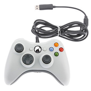 Gamecontroller Xbox 360 Gamepad Schwarz USB Kabel PC XBOX360 Joypad Joystick XBOX360 Zubehör für Laptop PC für freies ShippingUSB Wir