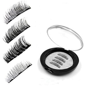2018 Nuove ciglia finte magnetiche con 3 magneti Handmade 3D Magnet Lashes Eye Lashes Makeup Kit