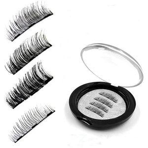 2018 nuevas pestañas falsas magnéticas con 3 imanes Imán 3D hecho a mano Lashes Eye Lashes Kit de maquillaje