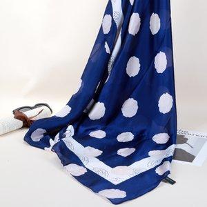 2018 180 * 90cm 새로운 디자인 로즈 플라워 실크 느낌 시폰 스카프 여성 실크 여성 스카프 선글라스 브랜드 프린트 목도리