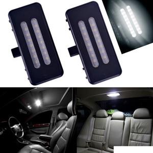 범용 1 짝 12 볼트 세면대 거울 바이저 LED 램프 BMW E60 E90 E70 E71 E84 F25 오류 무료 6000 천개