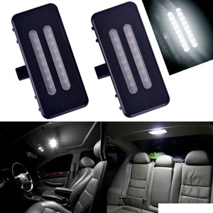 Evrensel 1 Çift 12 V Vanity Ayna Visor BMW için LED Işık Lamba E60 E90 E70 E71 E84 F25 Hata Ücretsiz 6000 K
