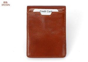 New Real Pickup Bag Short Rfid Multi Card Organ Card Bag For Men And Women's Top Layer Leather Credit Card Bag Zipper