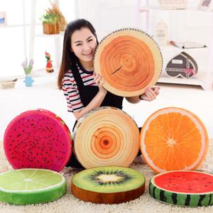 Nuovo sveglio 3D Fruit cuscino morbido peluche rotonda Cuscino Frutta cuscino cuscino del divano decorazione domestica tiro cuscino pad sedia
