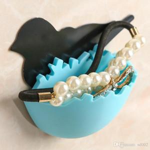 Colorido Jewelry Organizer Self Adhesive Birds Nest Forma caixas de armazenamento parede Lugar Key Mini Caso Home Decor ii 2 3TT