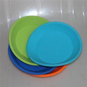 "Hot Silicon Deep Dish Round Casserole en Silicone 8 ""Antiadhésif Conteneur en Silicone Concentré Huile BHO Rond En Silicone Pan Livraison Gratuite DHL"
