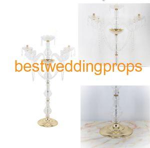 nouvelle arrivée grand cristal pièce maîtresse de mariage en cristal, Table Center décoration de mariage best0080