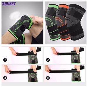 Fashion 3 Colors Sports Safety Running Basket Ginocchiera protettiva Ciclismo Attrezzi per esercizi traspiranti Ginocchia Ginocchiere
