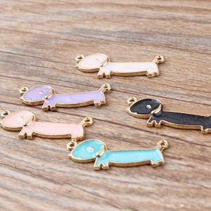 Charms 100 pcs / lot Cute Animal esmalte Charms Liga Colar pingente braceletes Acessórios de jóias DIY