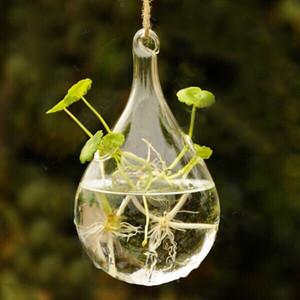New Clear Glass Hanging Vaso Bottle Terrarium Container Vaso di fiori Flower DIY Table Wedding Garden Decor