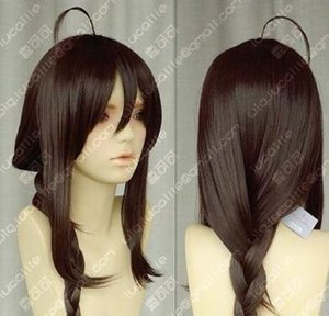 COS WIG vocaloid 3 Hatsune castanho escuro tranças cabeça 100 CM cosplay peruca de cabelo