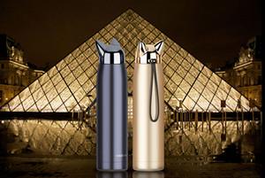 Doppelwandige Thermosflasche aus Edelstahl Isolierflaschen Shining Cute Cat Fox Ear Thermo Kaffee Tee Milch Reisebecher 320ml