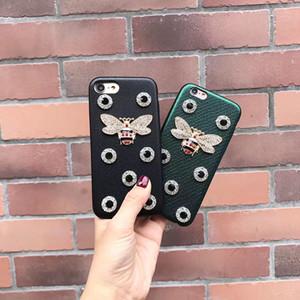 6s nuevos caja del teléfono del iphone del diseñador de moda de lujo, además de caja del teléfono celular del rhinestone caso de abeja para Iphone 6s 6splus 7 envío libre de 7plus