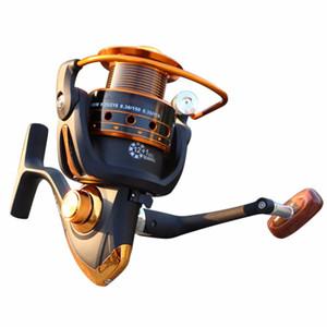 Yumoshi Pêche Reel Jigging Full Metal Spinning Reels EF1000-7000 12BB 5.2: 1 Moulinets De Pêche Spinning Outils De Pêche Accessoires