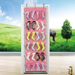 24 Lattice non tessuto Shoe Pouch buon giocattolo più strati di qualità Gioielli di stoccaggio Hang Bag multi funzione 15 68kj dd