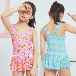 NEW Beautiful Girls One-piece Swimsuit Floral Printed Children Swimwear Bathing Beachwear Suit for Kids Swimming Suits