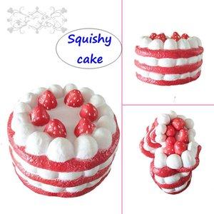 Émuler Squishy Cake jouets Enfants PU Slow Rising fraise gâteau d'anniversaire Doux Élasticité Stretch Decompression Fun Gift
