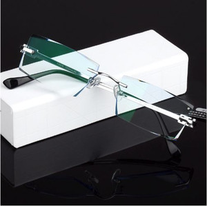 Men Fashion Glasses Titanium Rimless Eyeglasses Frame Diamond Decorations Optical Frame with Prescription Glass NEW oculos 621