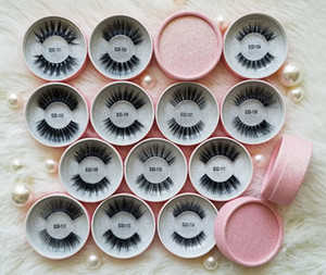 Atacado Clear / Transparente / Invisível Banda / Terrier 3D Faux Mink Eyelashes Etiqueta Privada 3D Silk Eyelashes Vendor Cruelty Free