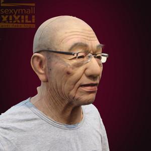 livraison gratuite! Halloween masque Carnaval masque silicone le vieil homme visage mascarade