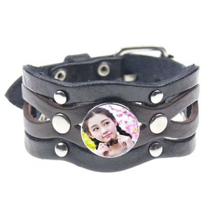 button leather bracelets for dye sublimation fashion leather snap button bracelet jewelry hot transfer blank diy custom consumables