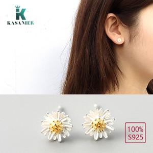 KASANIER Genuine 925 Stering Silver Earrings Flower Designed for Women 925 stering silver Earrings Jewelry