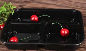 Kapak Meal Hazırlık Porsiyon Kontrollü 3 Bölmeler Mikrodalga Gıda Saklama Tek Meal Hazırlık Konteynerleri + Kapaklar Bento Box Lunch Box Tepsi