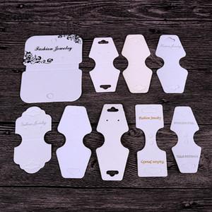 16 نمط أسود / أبيض / كرافت مربط القرط بطاقة قلادة بطاقة مختلفة الحجم سوار شنق العلامة مجوهرات عرض بطاقات تسمية العلامة