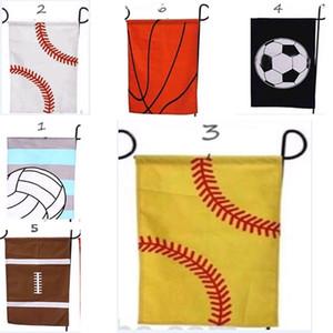 Baloncesto Béisbol Jardín Bandera Banderas Deportivas Bola de Pascua Bandera Lienzo Jardín Al aire libre Jardín decorativo Béisbol Fútbol Softbol WX9-559