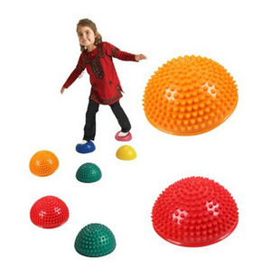 Nova moda hemisférios alpondra bola de massagem durian crianças dos miúdos jardim de infância integração sensorial equilíbrio treinamento brinquedos