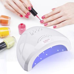 Lámpara UV 24 / 48W Secador de esmalte de uñas 30 LEDs Luz 5S 30S 60S Secado FingernailToenail Gel Curado Nail Art Dryer Machine Manicure
