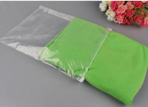 Personnaliser le logo Sac de rangement en plastique transparent Zipper Seal Sacs de voyage Zip Lock Valve Slide Seal Pochette d'emballage pour vêtements cosmétiques