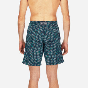 Vilebre Erkekler Yüzme Şort 3D Baskılı Hızlı Kuru Plaj Şort Polyester Sörf Şort Yaz Tropikal Volley Yıkanma Suits