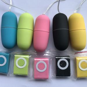 Silikon MP3 Remote Wireless Vibrationsei 20 Modi 5 Farbe Wasserdichte Tragbare Fernbedienung Wireless Vibrator Ei Vibrator Klitoris